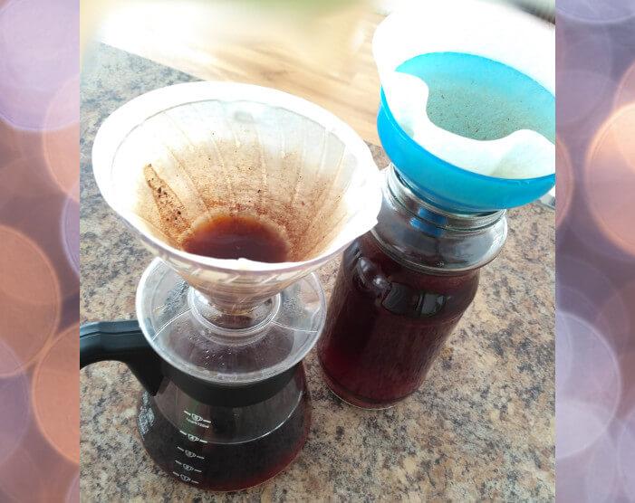 Cold-Brew ľadová káva studená extrakcia