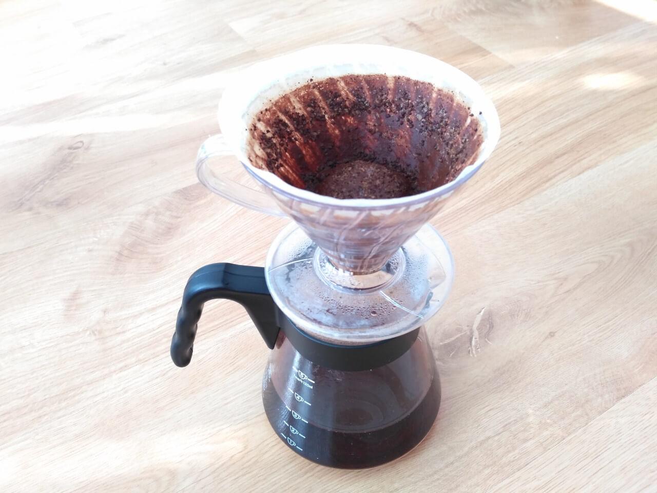 Príprava kávy V60