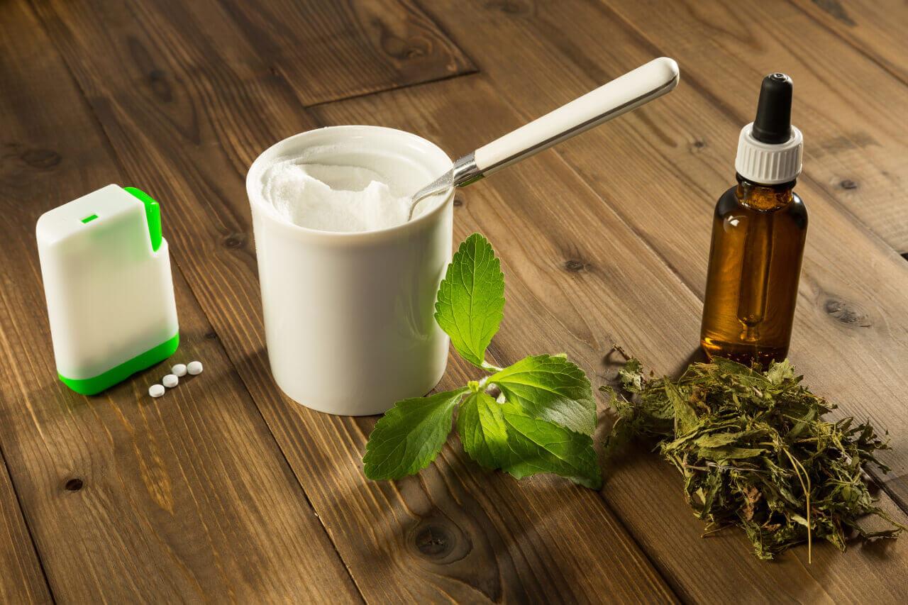Stévia cukor - sladidlo (rastlina, kvapky, prášok, tablety)